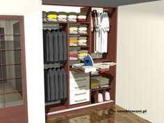 Projekt szafy z miejscem na deską do prasowania