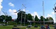 The Cincinnati Trapeze School will have you flying and throwing tricks in no…