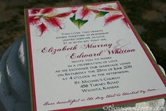 Stargazer Lily Wedding Invitation by http://blossomaccents.com (Jessica's)