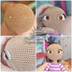 Discover thousands of images about Irina Ivanova - Crochet Amigurumi Free Patterns, Crochet Doll Pattern, Crochet Dolls, Crochet Hats, Fairy Dolls, Amigurumi Doll, Crochet Animals, Doll Face, Doll Patterns