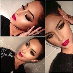 Classy yet exotic. A perfectly fierce look for nights on the town. #makeup #makeup #style