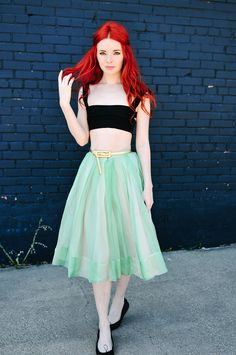 mint green 50s skirt---seaofshoes.com