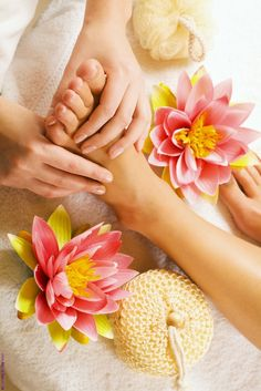 The joy of a pedicure and massage