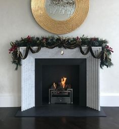 Ready for the arrival of a special someone, this deco-style graduated surround is our take on a more traditional design. *Mince pies and carrots not included Traditional Fireplace, Modern Fireplace, Fireplace Wall, Wall Fireplaces, Modern Luxury, Modern Contemporary, Merry Christmas Everyone, Traditional Design, Wall Design