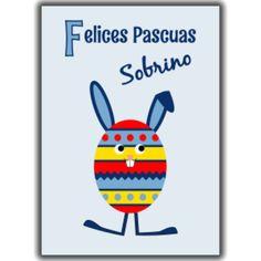 Easter egg bunny blue spanish - sobrino (nephew)