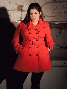 This coat is giving me everything!!! Plus Size Belted Asymmetrical ...