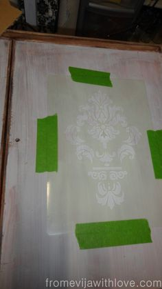 A tutorial on how to create a raised stencil on a piece of furniture using a stencil and a paste to help and create some depth and dimension to the piece