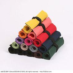 Fabric Pencil box Pen Pocket Pouch_122KCAL_Roll Pencil Case | eBay
