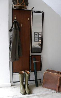 Antiguo perchero recibidor espejo perchero retro vintage - Percheros paragueros antiguos ...