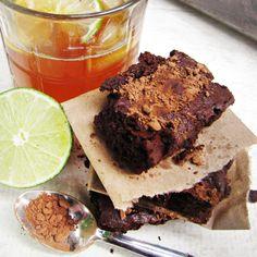 Dark and Stormy Brownies {Katie at the Kitchen Door}