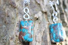 ONLY ONE LEFT!!! Handmade Beautiful Silver with Teal and Brown by RubysJewelry1,