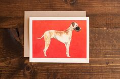 The Great Danemodern and chic blank greeting by StationeryBakery, $4.50