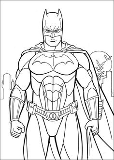 free online printable batman coloring pages. Who doesn't know Batman? Maybe all Dc fans and superhero movie fans must have heard at least this Batman figure. Batman is one of the most famous supe. Superman Coloring Pages, Spiderman Coloring, Cartoon Coloring Pages, Coloring Pages To Print, Free Printable Coloring Pages, Coloring Book Pages, Coloring Sheets For Boys, Coloring For Kids, Colouring Sheets