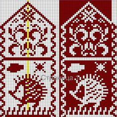 ideas knitting socks tutorial christmas stockings for 2019 Knitting Charts, Knitting Socks, Hand Knitting, Knitting Patterns Free, Knitted Mittens Pattern, Crochet Mittens, Knitting For Charity, Fair Isle Knitting, Crochet Diagram