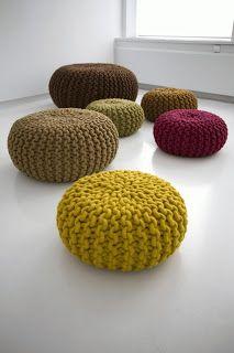 Magnolica: Pouffs y almohadones tejidos: fabricalos vos misma