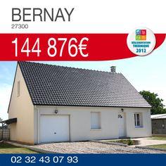 #HabitatConcept vous propose ce pavillon avec garage à BERNAY (27300) pour 144 876€ !! http://www.habitatconcept-fr.com/offre-212-maison-terrain-bernay-27300