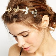 Fresh Style Solid Color Leaf Hairband For Women