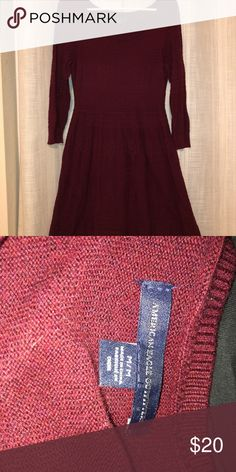 American Eagle sweater dress Never worn! Super cute with knee high boots! American Eagle Outfitters Dresses Long Sleeve