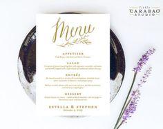 Menü für die Hochzeit / Hochzeitsmenü / Menükarte / Barmenü