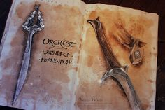 Orcrist: The Sword of Thorin Oakenshield by Kinko-White.deviantart.com on @deviantART