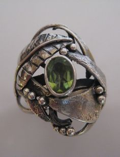 water cast silver ring $95