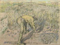 Jan Toorop - Harvesting beans