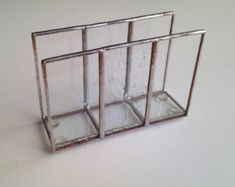 Minimalistic clear napkin holder, Stained glass napkin holder