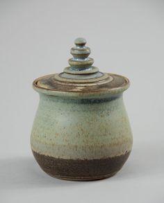 Small Lidded Vase Handmade Ceramic Jar with Lid by AlfarCeramics
