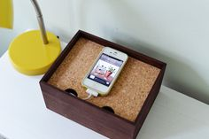 Here's a project for the weekend!!  Have a mess of cords cluttering your lovely #home? Have a crack at this #DIY charging dock!