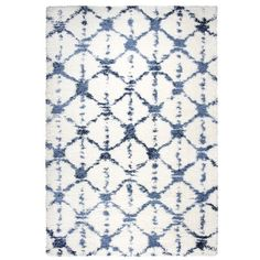 Bungalow Rose Matias Cream Shag Area Rug