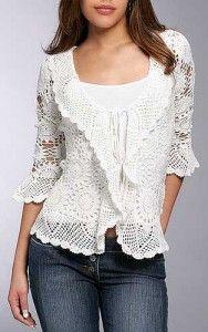 ideias de blusas de croche