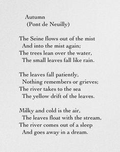 Autumn (Pont de Neuilly) | Sara Teasdale