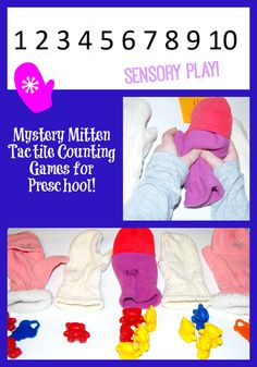 Mystery Mitten Tactile Counting Games for Preschool