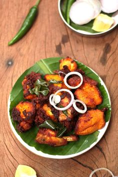 Kerala style Fried Chicken.Chicken marinated with spicy masala and deep fried in coconut oil.