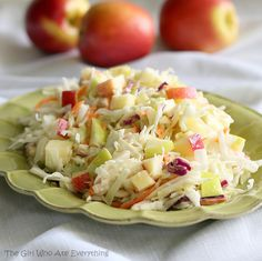 Apple Coleslaw | The Girl Who Ate Everything