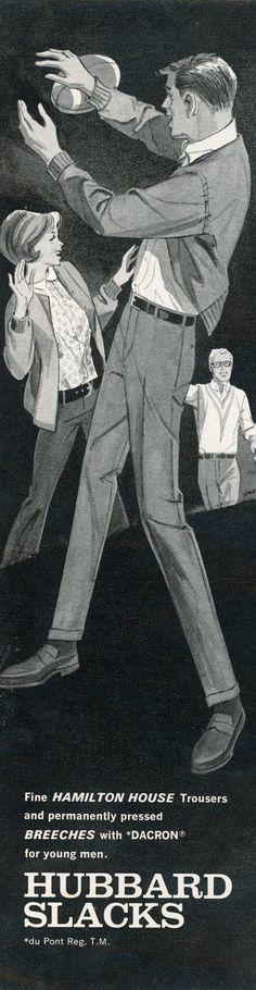 Hubbard Slacks ad from Playboy, 1967