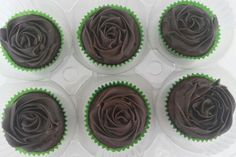Cupcake de chocolate com brigadeiro