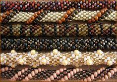 Crochet Rope tutorial w/rope patterns (Translate).  #Seed #Bead #Tutorials