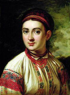 Podolian girl by Tropinin/Василь Тропінін «Дівчина з Поділля», 1800-і рр.