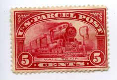 train postage stamps | 1912. U.S. Parcel Post, Mail Train 5 cents. U.S. Parcel Post stamps ...