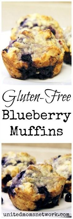 Absolutely delicious gluten free blueberry muffins recipe.
