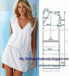 DIY Women's Clothing : Moda e Dicas de Costura: VESTIDO DE MODELAGEM FÁCIL-2  https://diypick.com/fashion/diy-clothes/diy-womens-clothing-moda-e-dicas-de-costura-vestido-de-modelagem-facil-2/