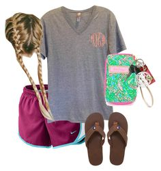 """""""OOTD"""" by prep-lover1 ❤ liked on Polyvore featuring NIKE, Vineyard Vines and Lilly Pulitzer"""