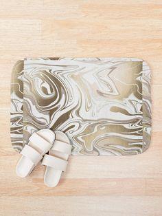 'Mixed Fluid Design' Bath Mat by Shane Simpson Fluid Design, Bath Mat Design, Bath Mats, Retro, Prints, Bath Rugs, Retro Illustration, Bathroom Rugs