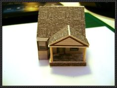 N Scale Building Template | ... building paper model template here: An American House Free Building