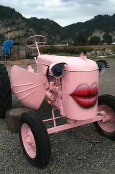 Ranch Art | pink tractor