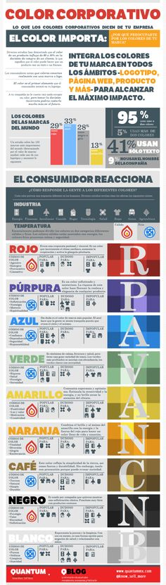 > Nice colors + gray Lo que dice el color corporativo de tu empresa #infografia #infographic #design