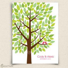 Wedding Tree Guest Book - Wishwik Multi - Wedding Wish Tree - Peachwik