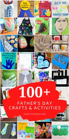 This mega list of Father's Day crafts, activities, homemade gifts, Holiday Activities For Kids, Holiday Crafts For Kids, Craft Activities, Preschool Fathers Day Gifts, Fathers Day Cards, Crafty Projects, Projects For Kids, Dad Crafts, Origami Cards