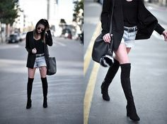 Erica S. - Dressed up Denim Knee Boots, Dress Up, Denim, Real People, Shoes, Fashion, Moda, Zapatos, Costume
